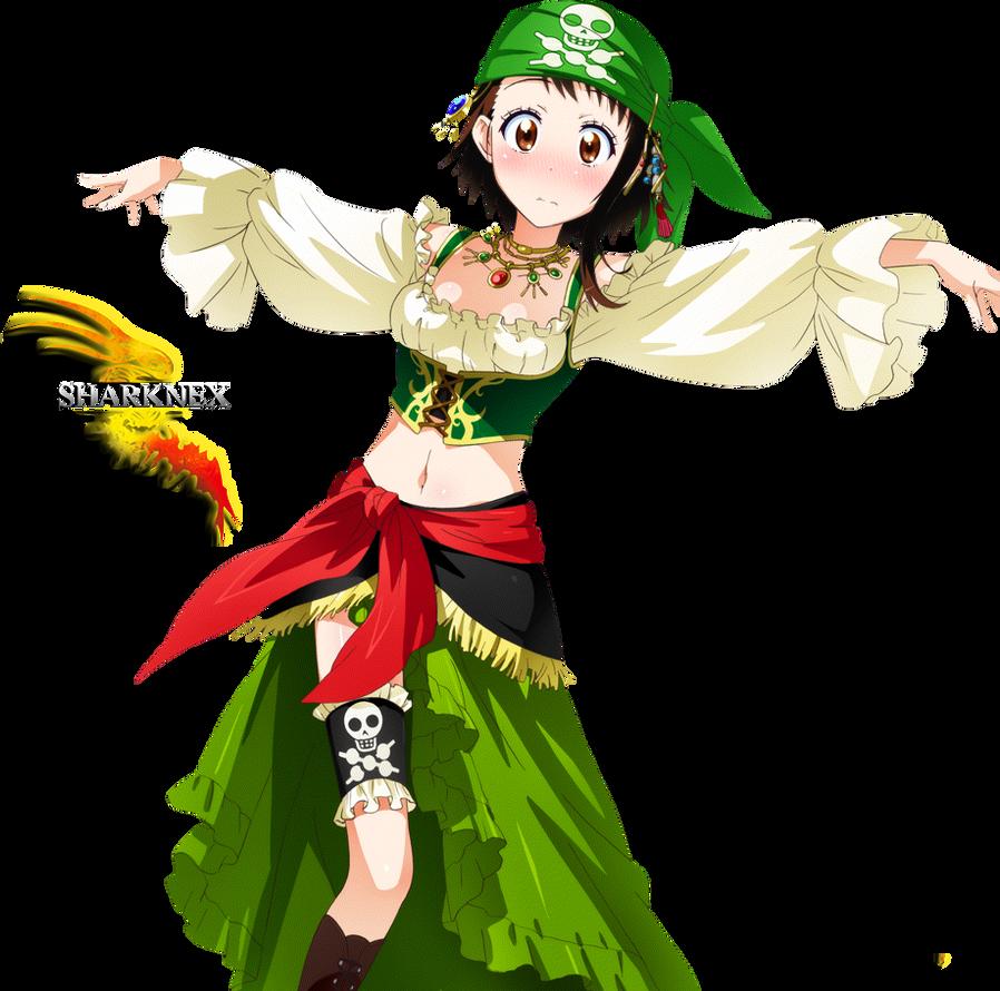 Nisekoi onodera pirate costume render by sharknex on DeviantArt