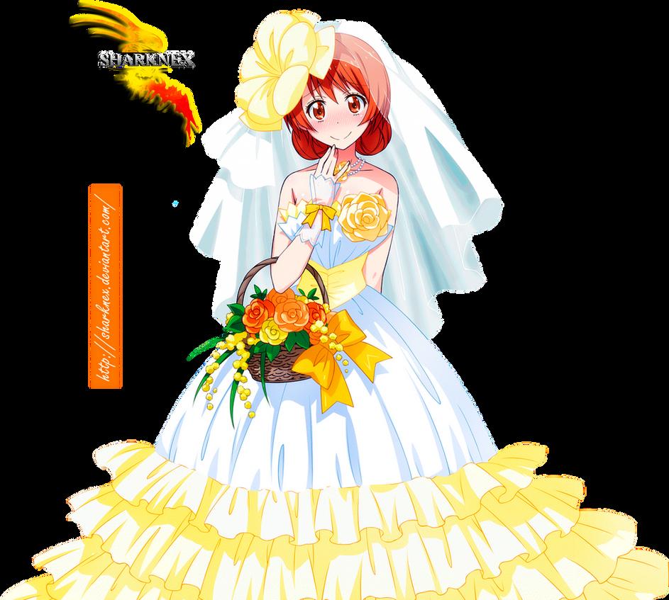 nisekoi marika wedding dress render 4 by sharknex on