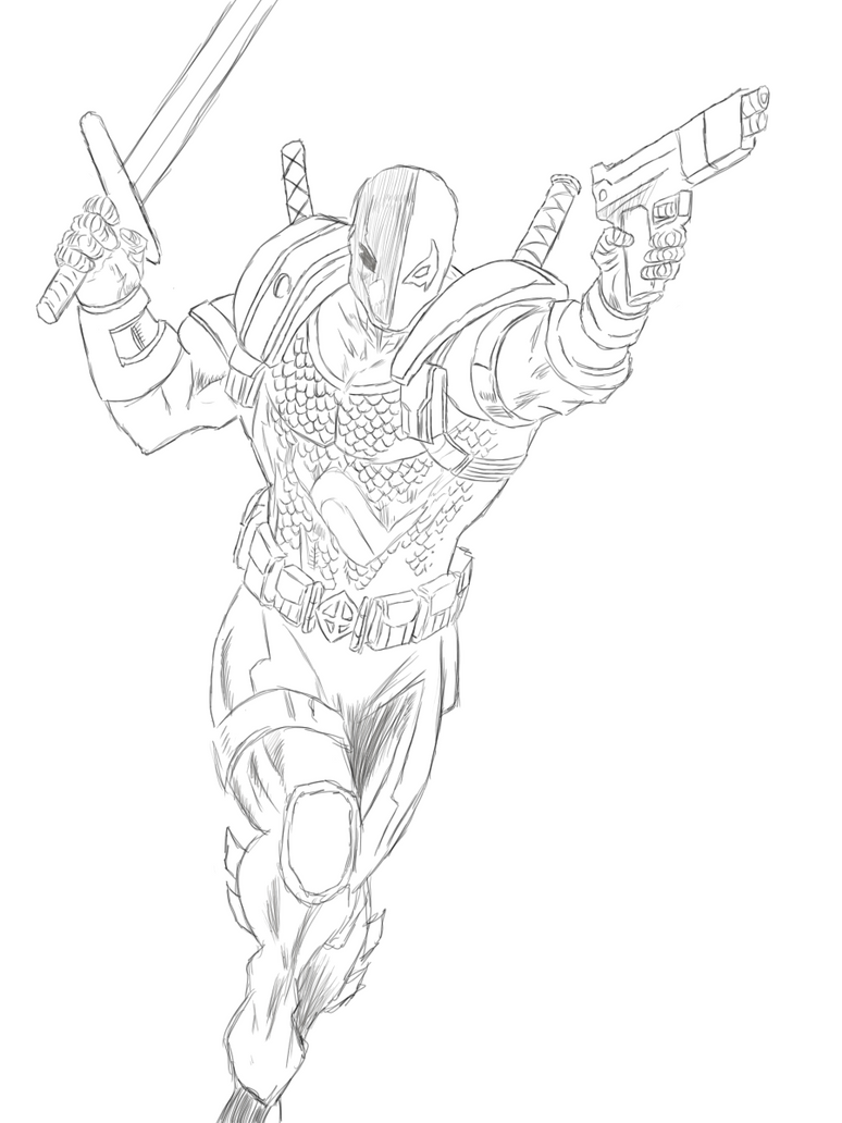 Coloring Pages Of Deathstroke Wallpaper