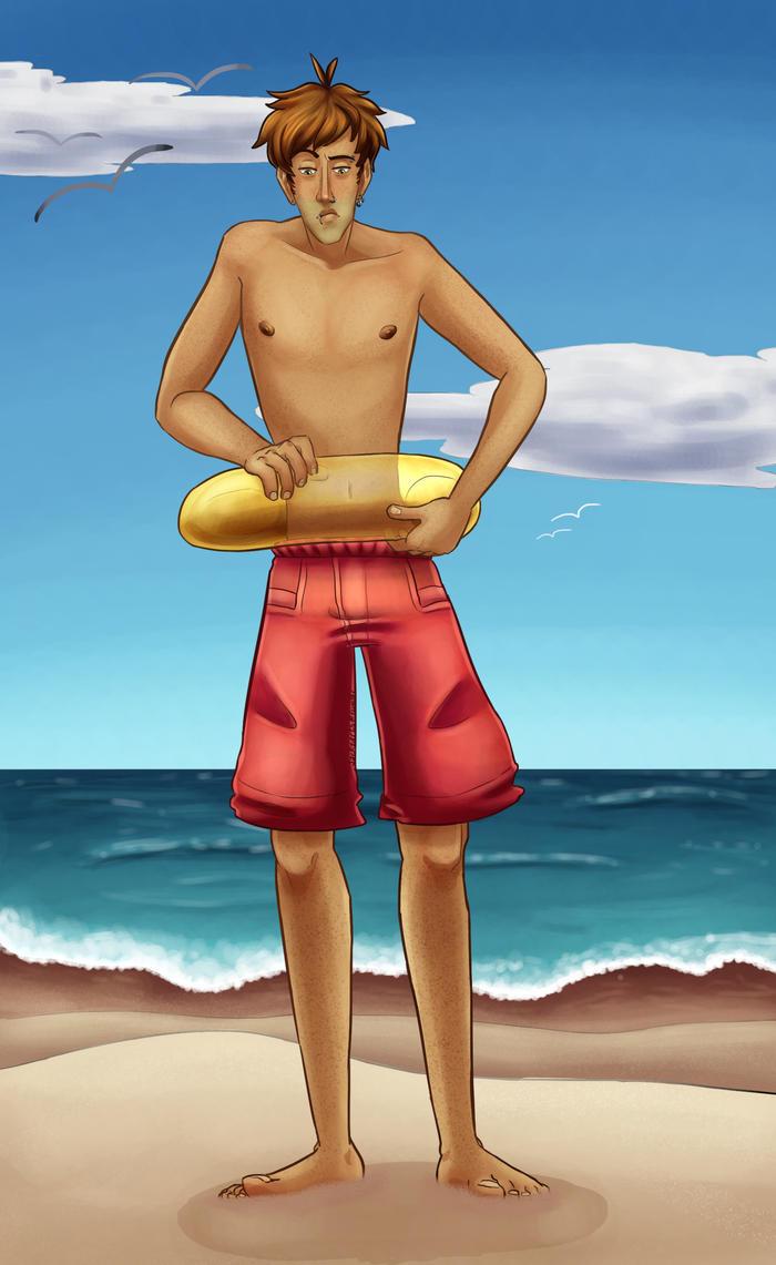 Jack at the Beach by jackzarts