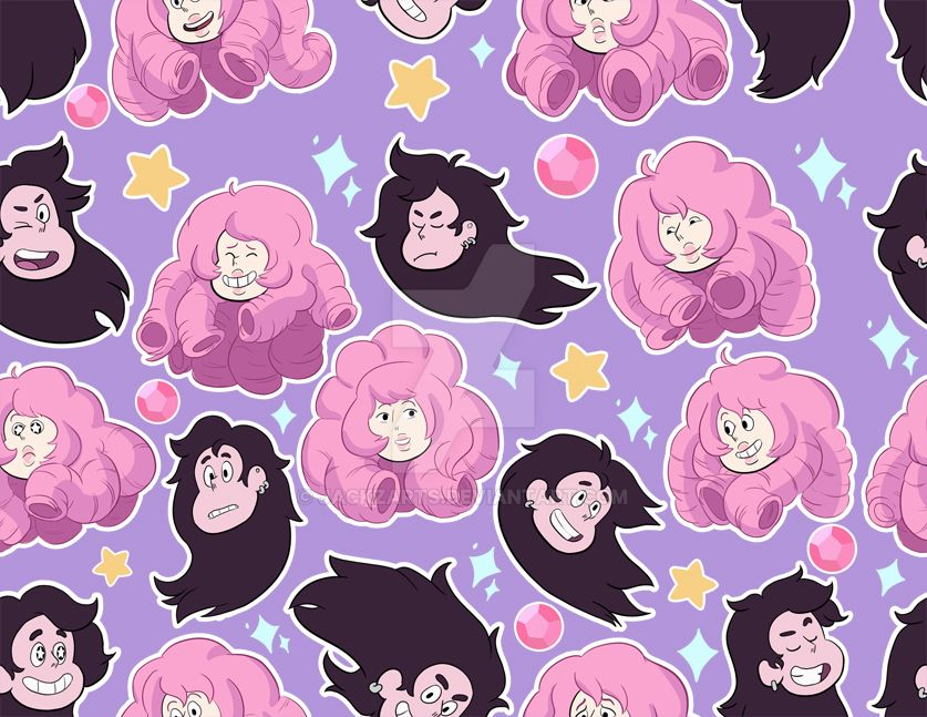 Greg and Rose pattern background by jackzarts