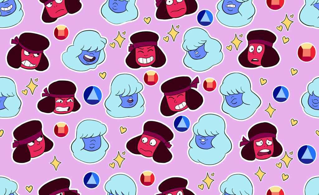 Ruby and sapphire background by jackzarts on deviantart - Sapphire wallpaper ...