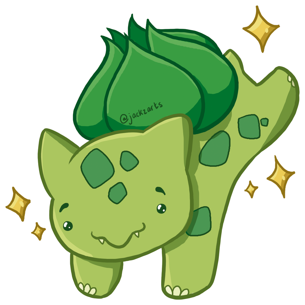 how to draw a cute bulbasaur