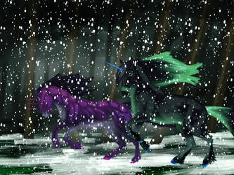 A Snowy Race by LupinHallow