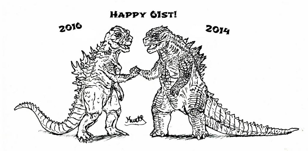 GojiBirthday 2015 by LazerWhale on DeviantArt