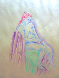 Life Drawing Sketch - 35 MIN - Colour by LazerWhale