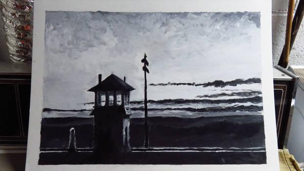 Value Study of Edward Hopper's 'Railroad Sunset'