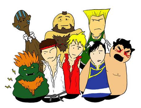 Street Fighter II cast