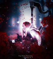 Red Harp by MelFeanen