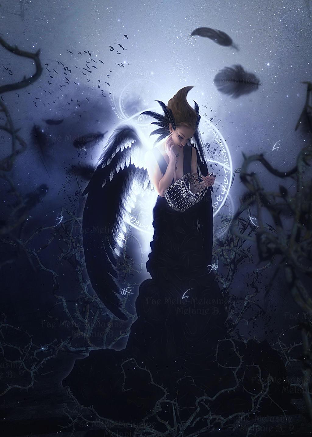 Raven Queen by Fae-Melie-Melusine