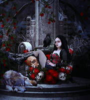 Throne of roses by MelFeanen