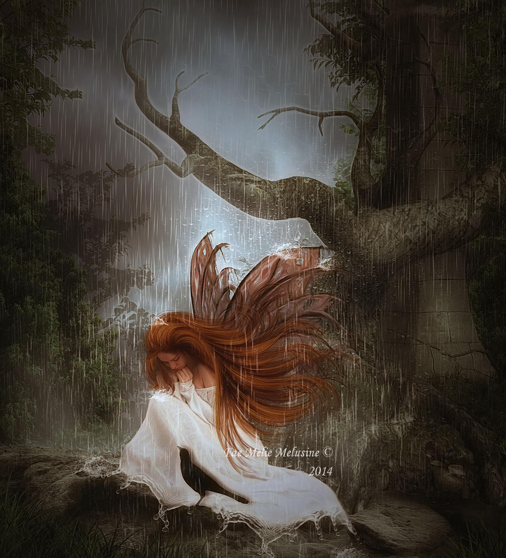 Lost in the rain by Fae-Melie-Melusine