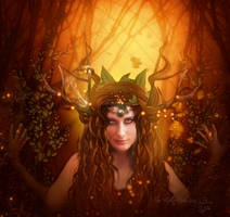 The daughter of Cernunnos by MelFeanen
