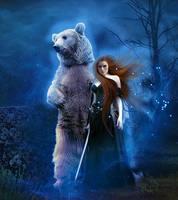 Merida And Bear by MelFeanen