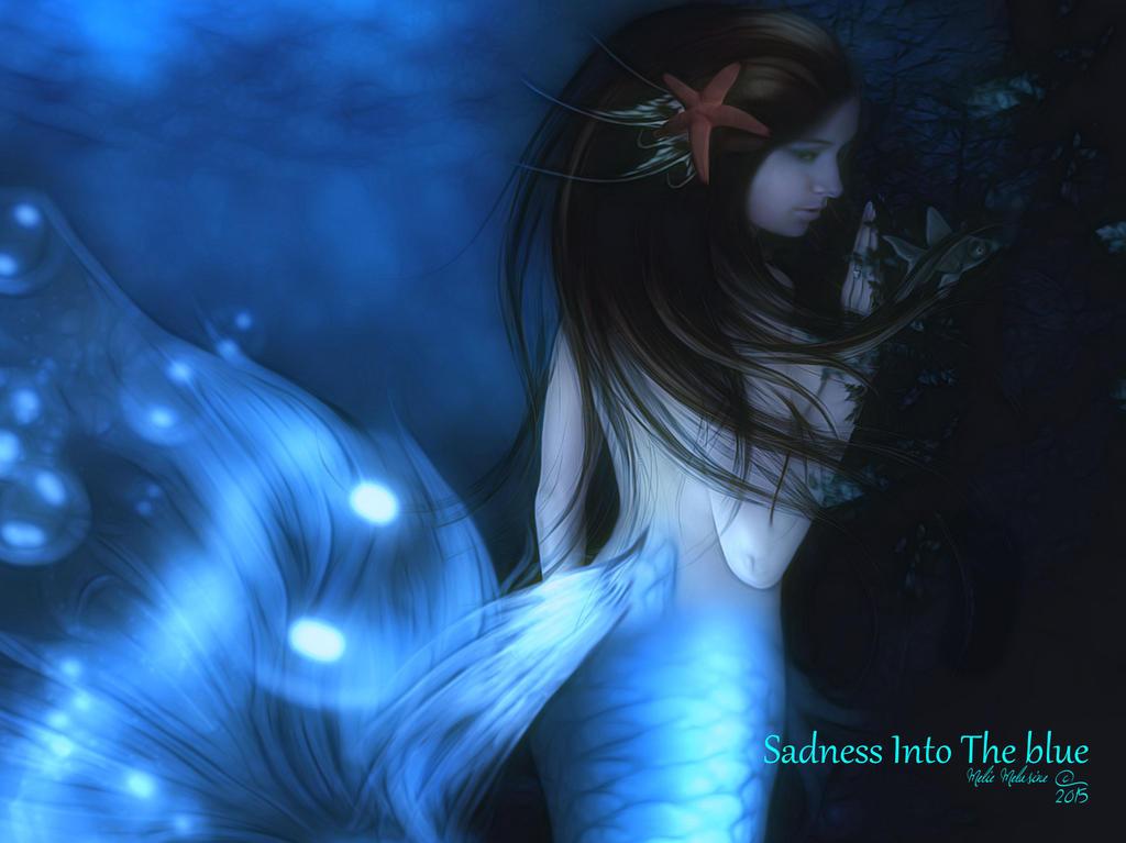 Sadness into the Blue by MelieMelusine