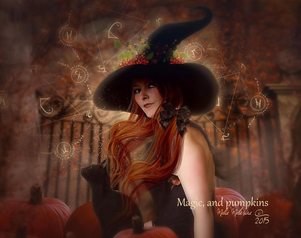 Magic, and pumpkins by MelieMelusine