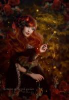 Hermion in the red garden by MelFeanen