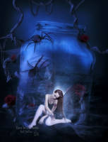 Fairy In The Bottle by MelFeanen