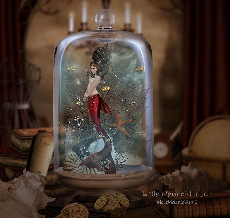 Little Mermaid in Jar by MelieMelusine