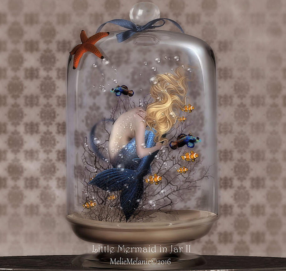 Little Mermaid in Jar II by MelieMelusine