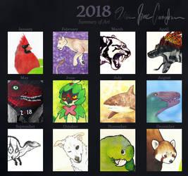 2018 Summary of Art by NeonBoneyard