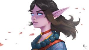 Elf Monk portrait
