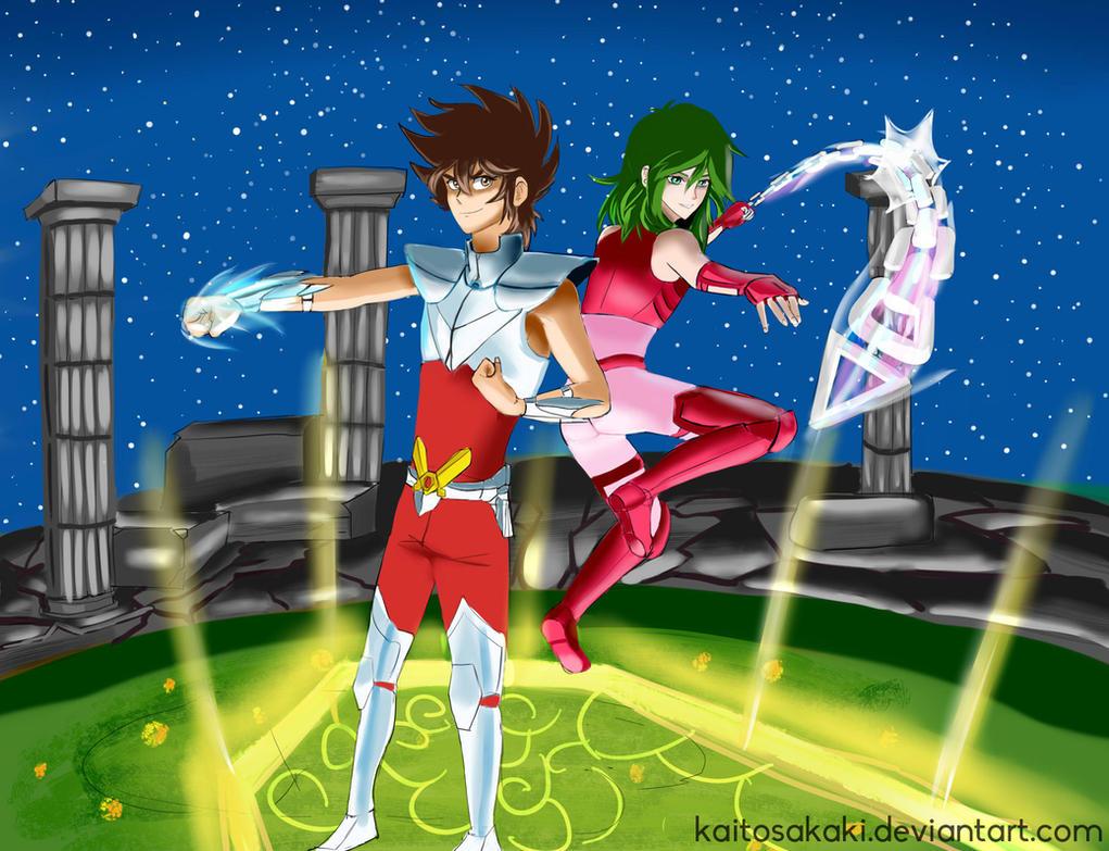 Pegasus Seiya and Andromeda Shun - Saint Seiya by KaitoSakaki