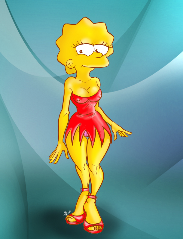 Drawing Lisa Simpson Naked-8211