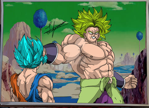Broly vs Goku (broly movie)