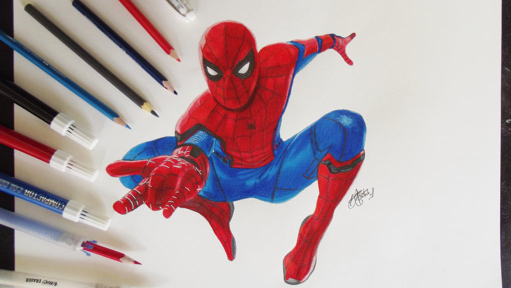 how to draw the spiderman homecoming logo