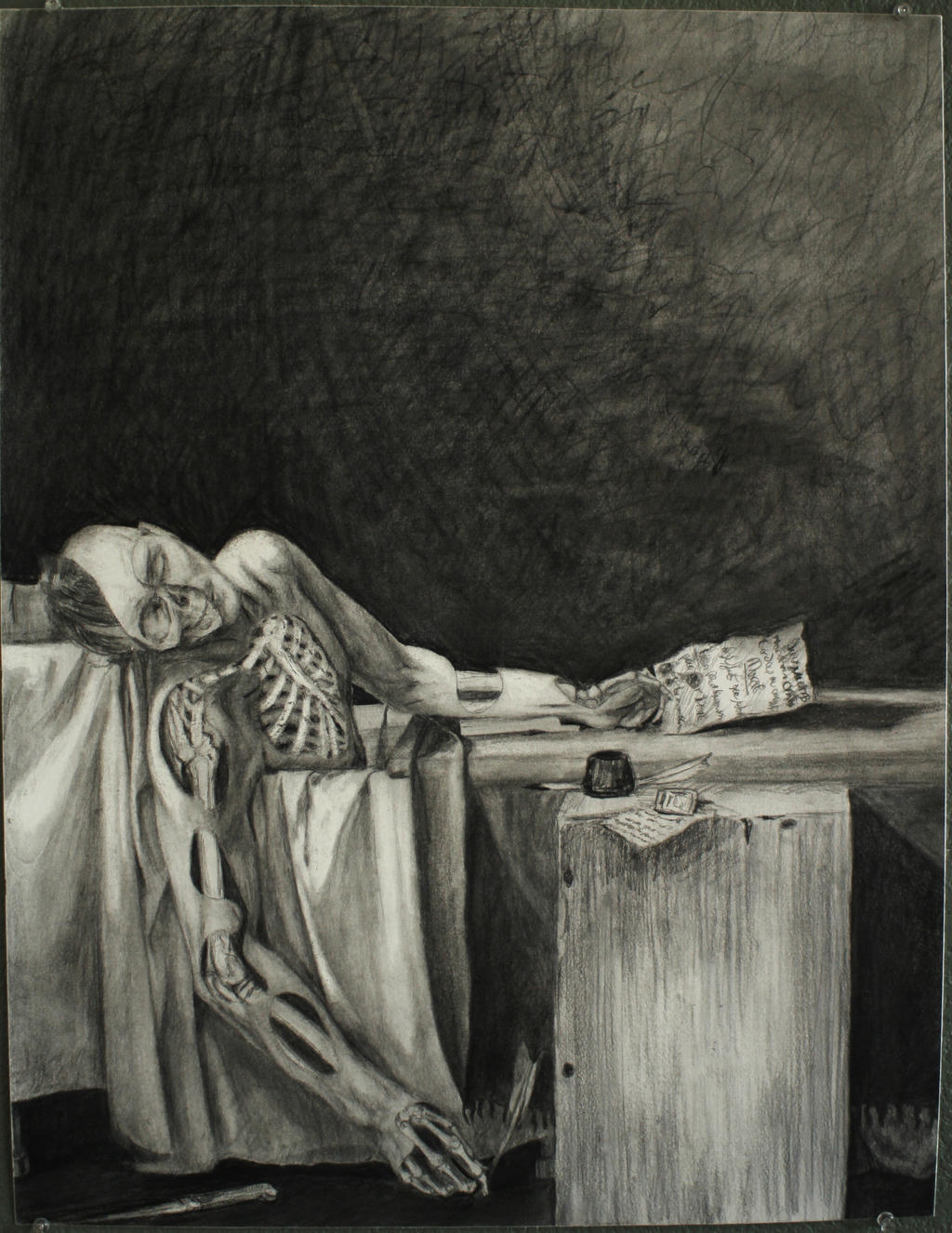 an analysis of the death of marat French radical jean-paul marat famously died in his bathtub in 1793, stabbed by  charlotte corday to put an end to his revolutionary activities.