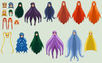 SSMU Mermaid Melody Hair Template