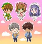 Cardcaptor Sakura chibis by Vreemdear