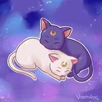 Space Kitties by Vreemdear