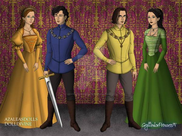 The White Queen - Anne, Richard, George, Isabel by GryffindorPrincess74