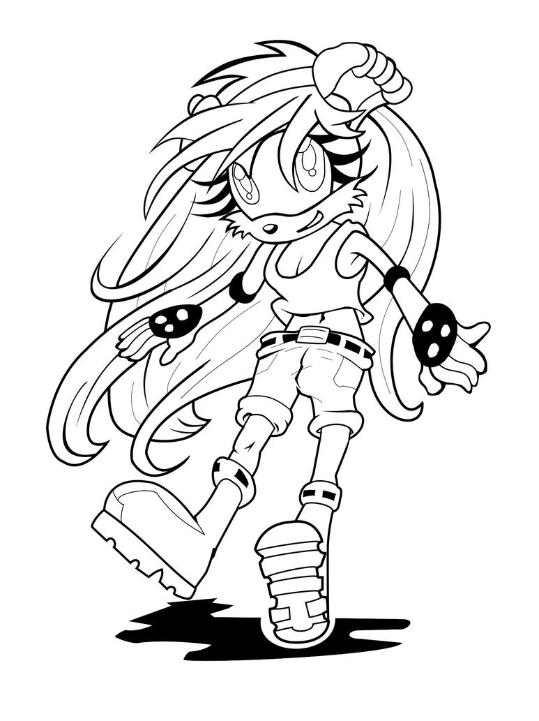 Mina mongoose inks by thunder thunder on deviantart for Mongoose coloring page