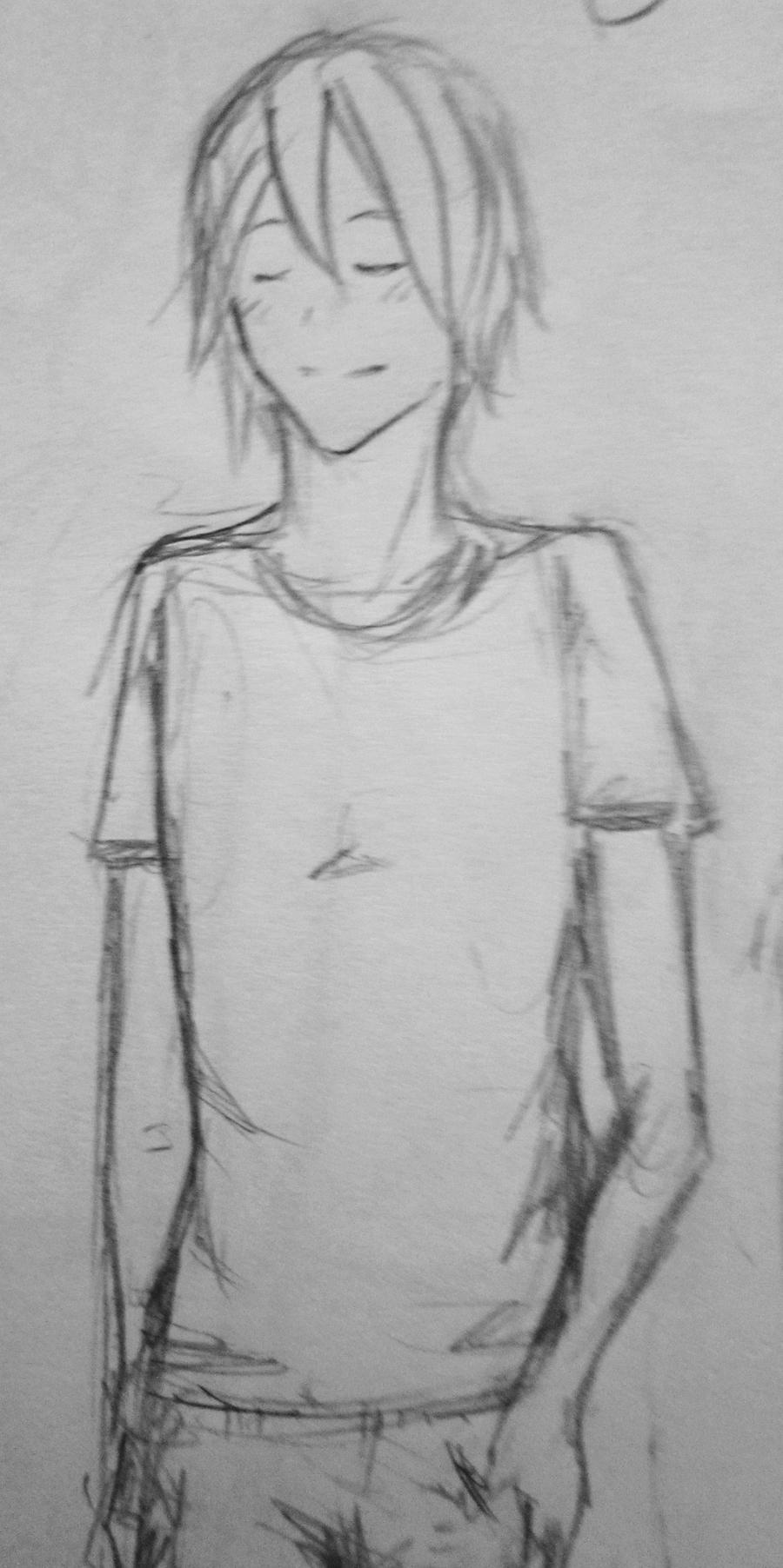 Quick Sketch - Standing Male by RiceBalls4Me