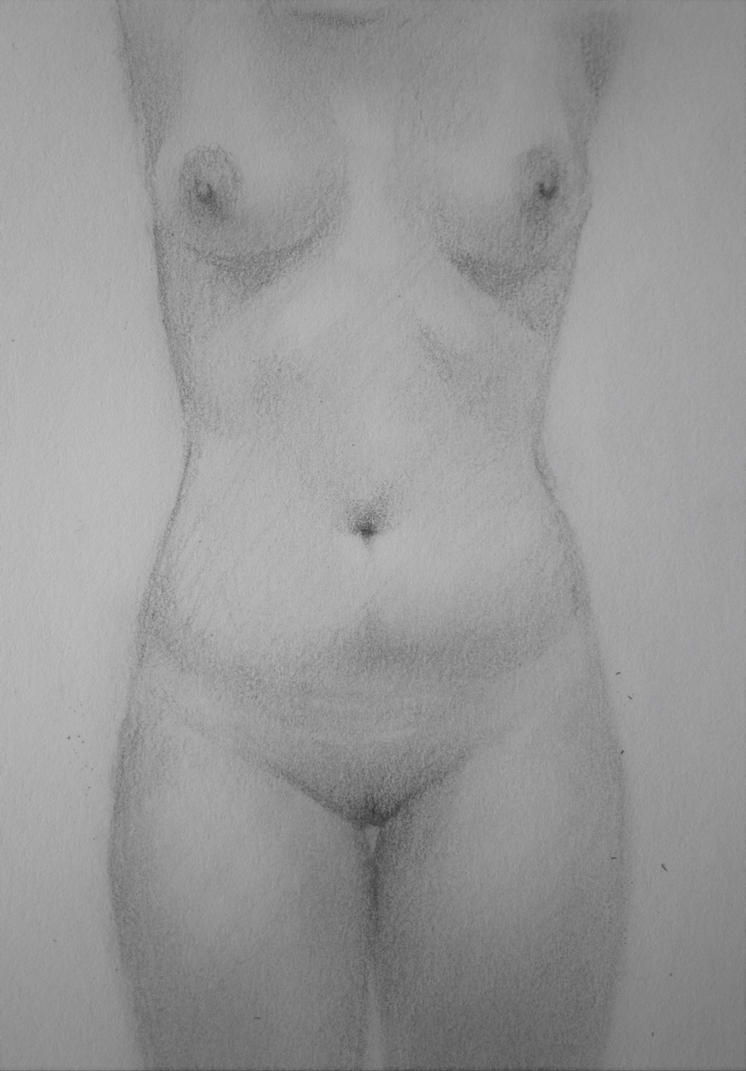 Nude Drawing by RiceBalls4Me