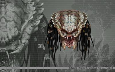 Predator head by n3ru