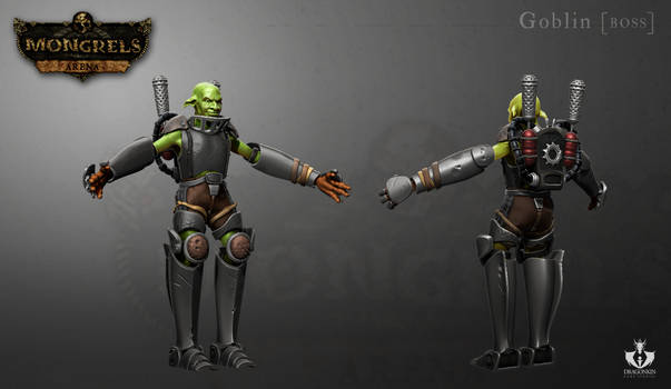 Goblin Boss 3D model for 'Mongrels: arena'