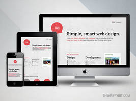 Responsive design by thehappybit