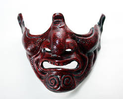 Samurai Menpo Half-Mask by Faust-and-Company