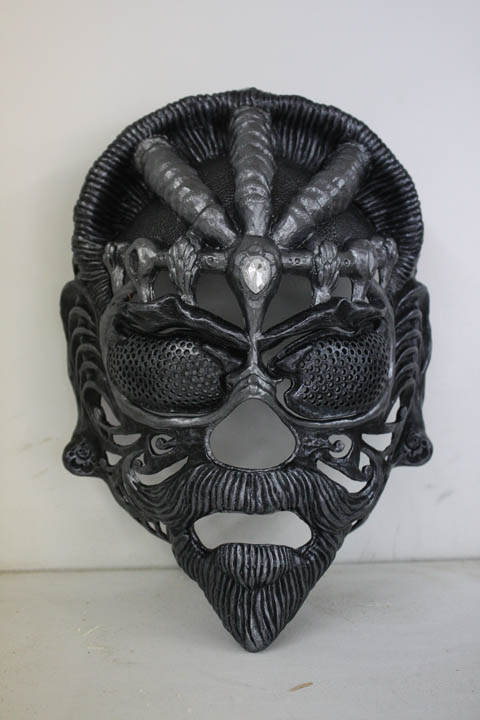 Dragon Rider Mask WIP by Faust-and-Company