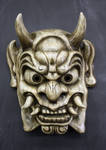 Oni Mask in Antique white