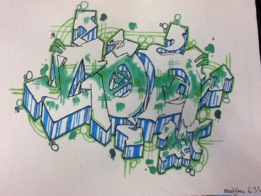 Graffiti Pen Art - God 1st by gigarit on DeviantArt