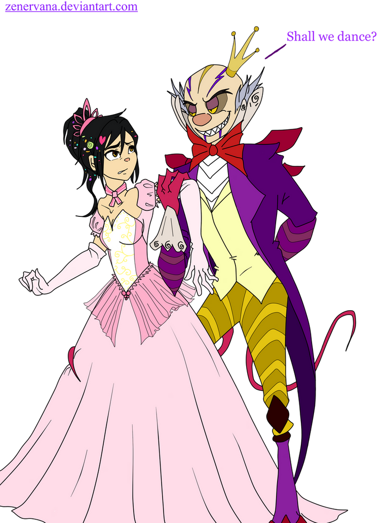 WIR:Vanellope x King Turbo by zenervana on DeviantArt Vanellope And King Candy