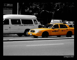 Taxi on Bowery by AngelHalfie