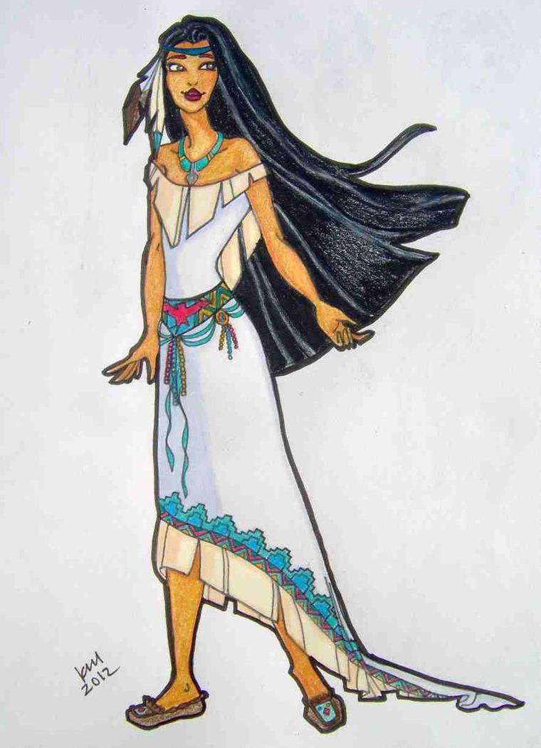 Pocahontas' Wedding Dress by happyeverafter on DeviantArt