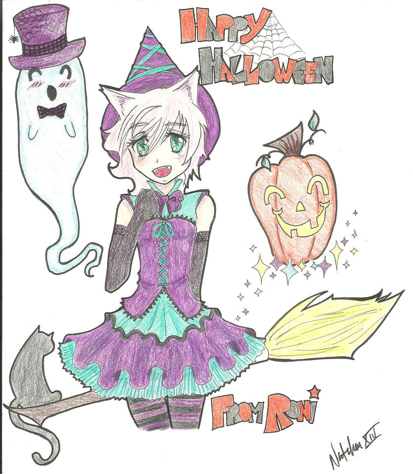 Happy Halloween from Anime Fannatiku's Roni by TheNatchan