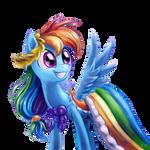 Rainbow Dash Gala Vector (transparency)